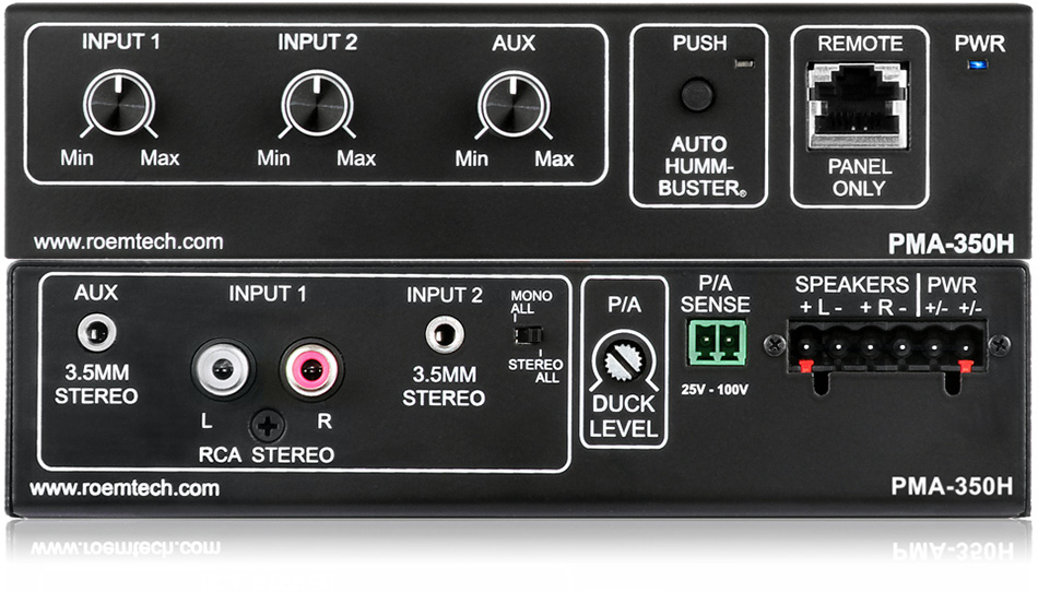 Classroom Audio Systems - PMA-350H - Plenum Rated Amplifier