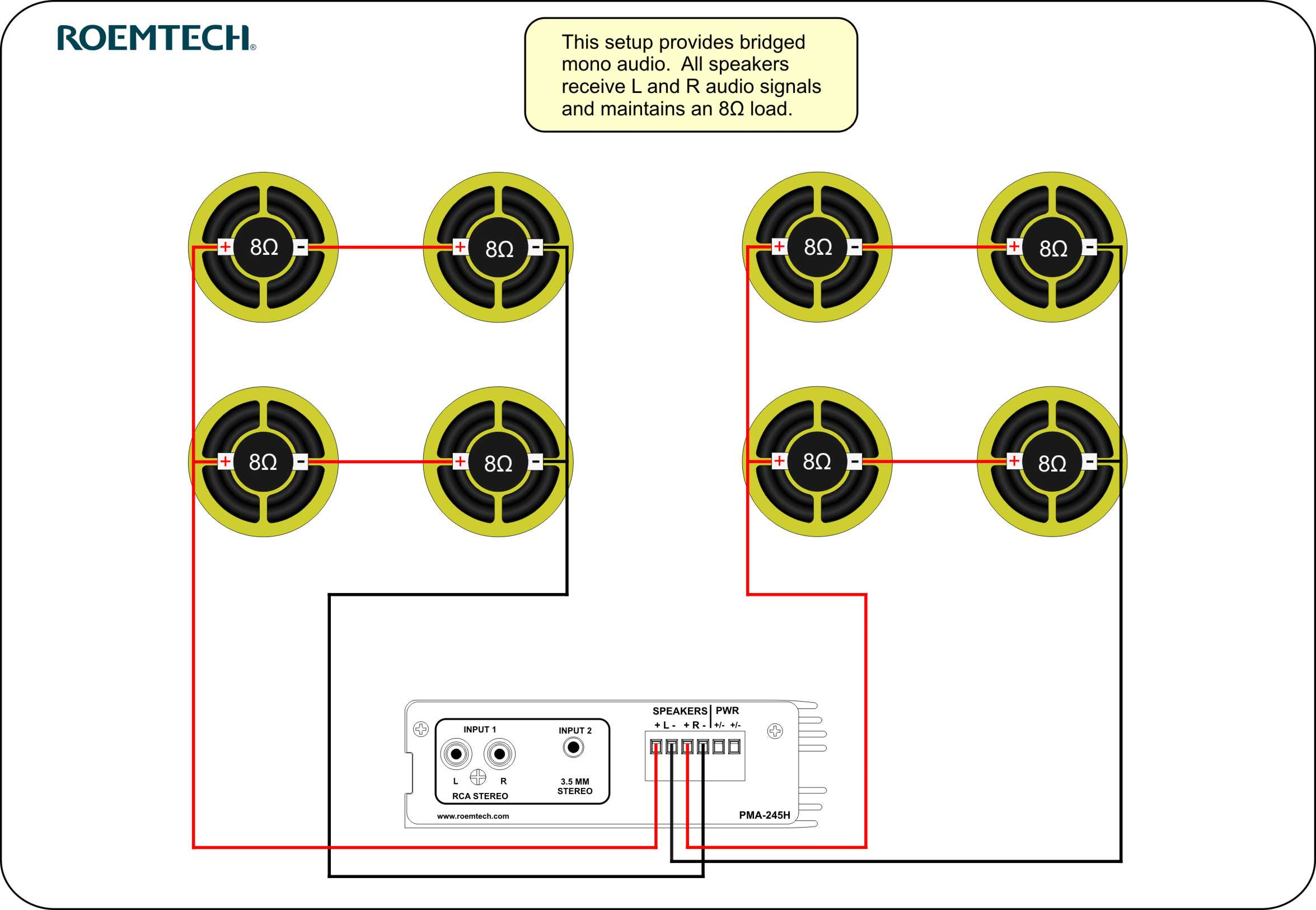 classroom audio systems multiple speaker wiring diagram rh roemtech com 70v  speaker system wiring diagram
