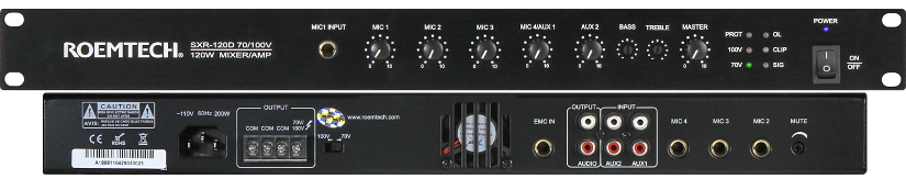 Classroom Audio Systems - PMA-245 - Plenum Rated Amplifier